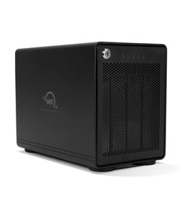OWC Thunderbay 4 - Thunderbolt 3 Enclosure for 4 x 2.5in or 3.5in Drives - JBOD, RAID 0, 1, 4, 5, and 10