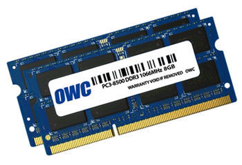 OWC DDR3 PC8500 SODIMM - 16GB Kit (2 x 8GB) - see product page for detailed system requirements