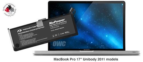 NewerTech NuPower 95 Watt-Hour Replacement Battery for MacBook Pro 17in Unibody (2011)