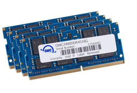 OWC DDR4 PC19200 2400MHz SODIMM - 64GB Kit (4 x 16GB)